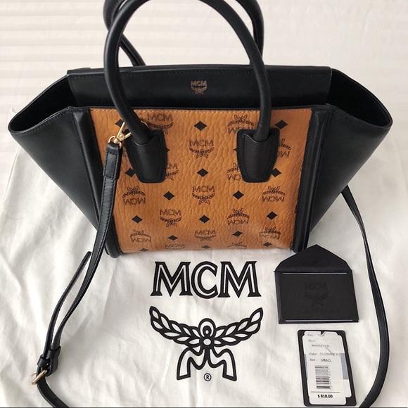 d90e36c37230ad MCM Bags | Kathy Visetos Small Cognac Black Tot | Poshmark